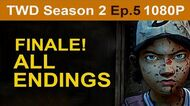 The Walking Dead Season 2 Episode 5 ALL Endings 1080p HD - No Commentary