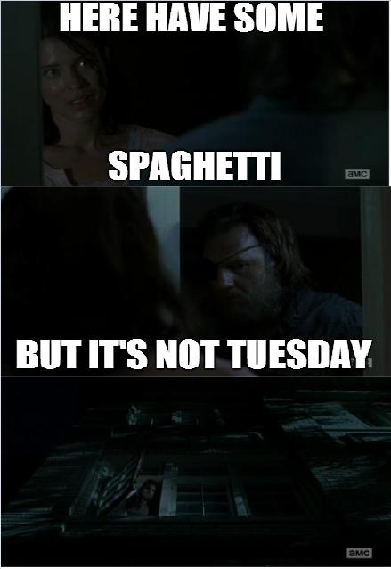 Spaghetti tues