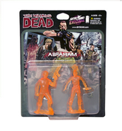 Abraham pvc figure 2-pack (translucent orange)