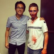 Yeun with Zombie Fan