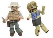 Walking Dead Minimates Series 1 Dale & Female Zombie 2-pk