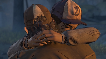 Kenny and Clementine Hugs