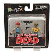 Walking Dead Minimates Series 5 Martinez and Geek Zombie 2-pk