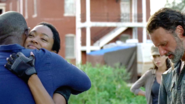 Sasha Williams hugs Morgan Jones 709