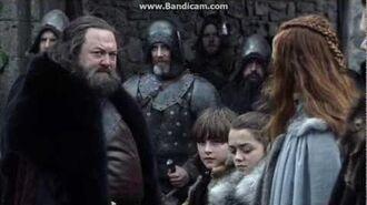 King Robert's arrival in Winterfell