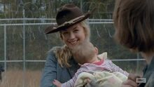 Beth with cowboy hat so very cute and badass