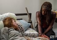 AMC 608 Michonne Tends to Deanna