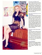 Emily Kinney on Glamoholic piano sitting