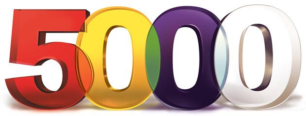 5000 nálezů