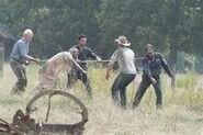 Jimmy, hershel, Rick, walkers