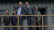 Gregory with Negan and the Saviors S8E1