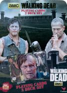 Walking Dead Playing Cards 2 Deck Set Tin Cover