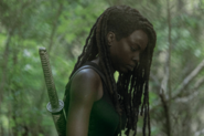10x01 Michonne thinking