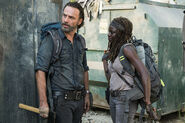 Rick Grimes and Michonne 7x12