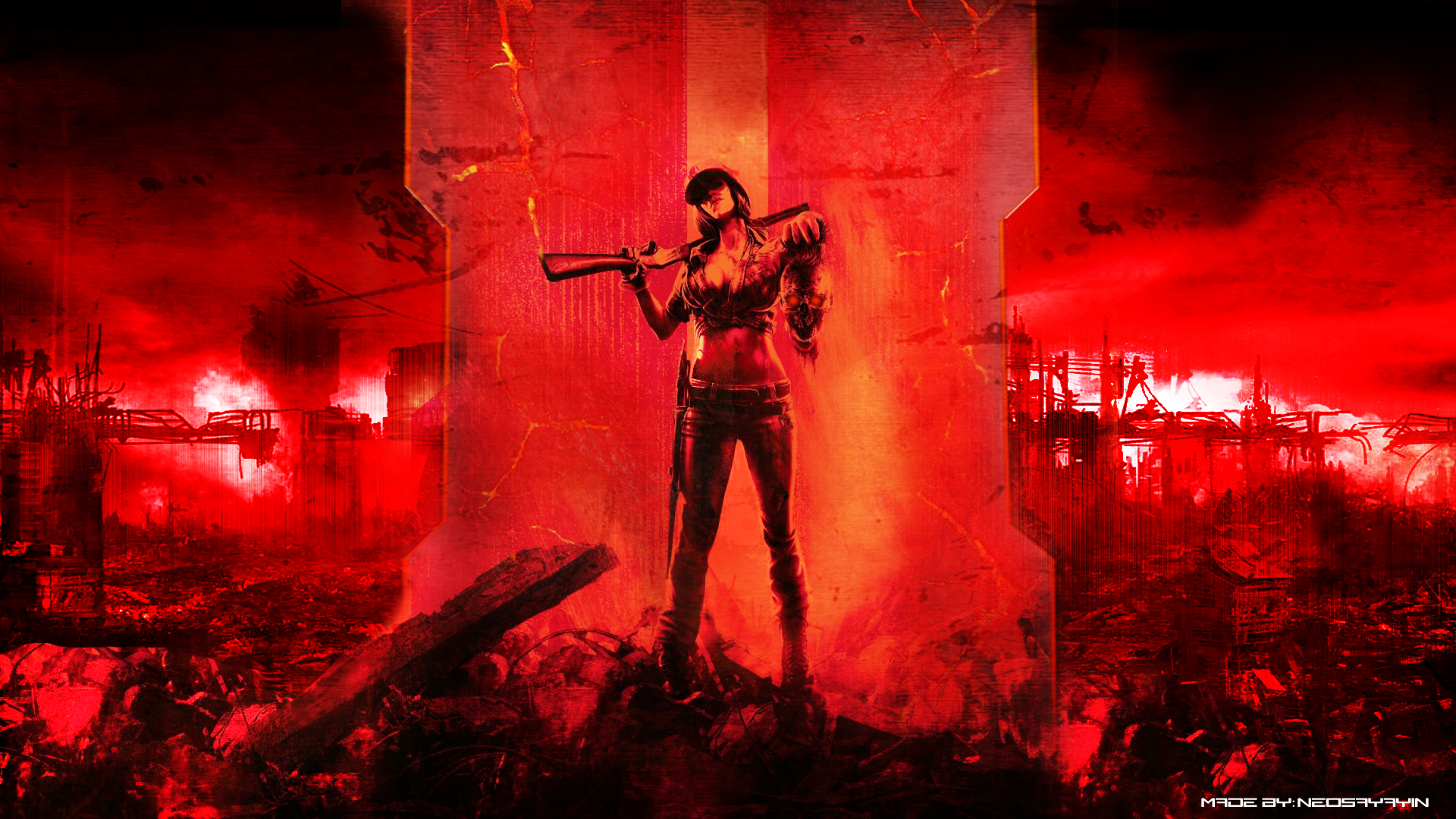 Call Of Duty Black Ops 2 Zombies Wallpaper By Neosayayin D4yi9i4