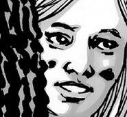 Blone Woman Hidden By Michonne