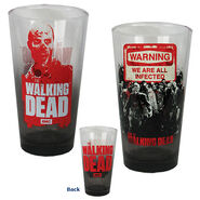 Warning 2pk Zombie Pint Glasses