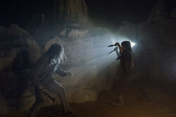 Daryl fights a Whisperers