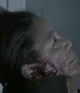 Dead elderly woman
