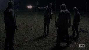 Negan Kills a Whisperer