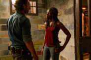 Michonne and Rick Speak 7x08