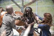 Michonne VS Walker