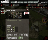 AMC The Walking Dead Social Game on Faceboo