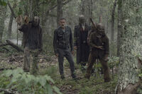 10x06 Negan and Whisperers hunting