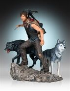 Daryl and the Wolves (Regular Release) Statue 1