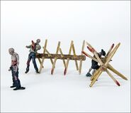The Walking Dead TV Walker Barrier Building Set 3