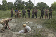 TWD wildfire amy's, funeral