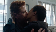 Abraham Ford and Sasha Williams Kiss 7x16