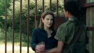 Deanna and Sasha at gate