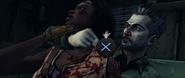 Randall strangling Michonne QTE