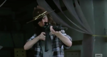 TWD Carl Kills 2 Men