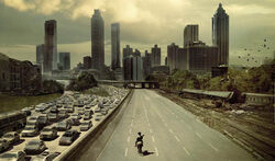 The Walking Dead Atlanta Scene