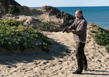 Daniel Salazar on a beach in Southern California