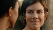 Maggie Rhee Smiles at Sasha Williams 7x16