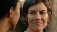 Maggie Rhee Smiles at Sasha Williams 7x16