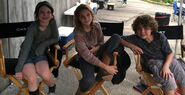Molly Lizzie Luke on set