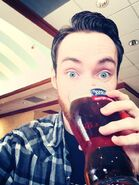 Alex Wayne Drinking
