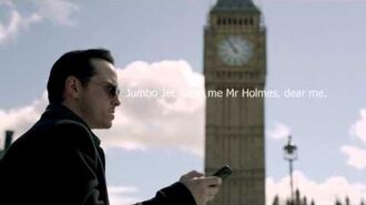 Sherlock 2x01 Fall music for Moriarty and Mycroft