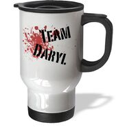 3dRose Team Daryl The Walking Dead Zombies Travel Mug, 14-Ounce