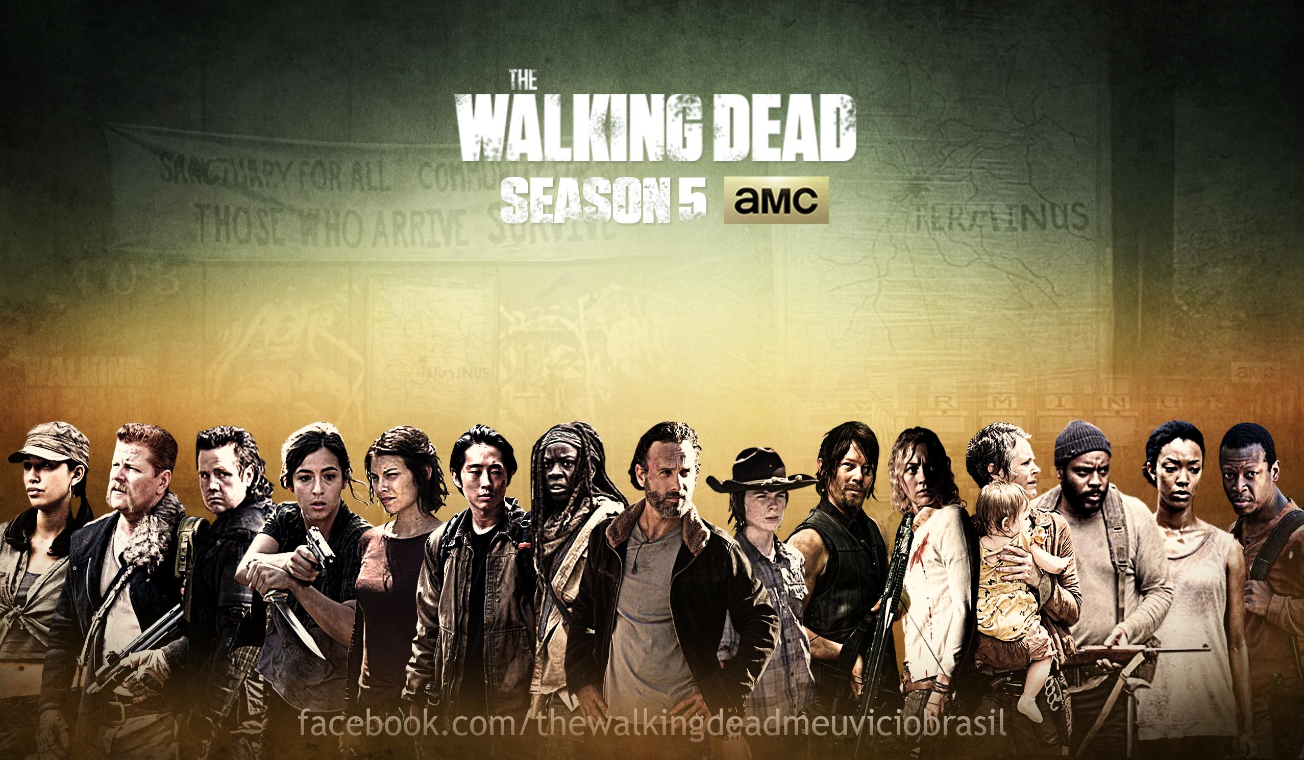 Season 5 Wallpaper Fa Poster TWD