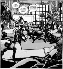 Negan and girls 105x7