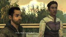Омид и Криста на мосту.