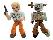 Walking Dead Minimates Series 2 Andrea with Stabbed Zombie 2-pk