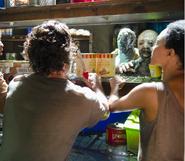 Rick and sasha gather supplies