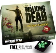 The Walking Dead Board Game The Best Defense w free set of 7 Wiz Dice