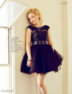 Emily Kinney on Glamoholic black dress cover